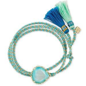Kenzie Aqua Cord Friendship Bracelet